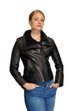 Michael Kors Plus Size Knit Collar Moto Leather Jacket