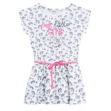 Kleid 3 POMMES Kleid Palmen weiß