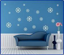 Sticker Mural Noël Autocollant Flocons De Neige Neige Fille Des Neiges