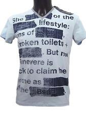 T-shirt uomo BSA47 Bray Steve Alan Tg. XL XXL Celeste Cotone Stretch Original