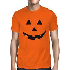 1Tee Mens Halloween Pumpkin Face T-Shirt