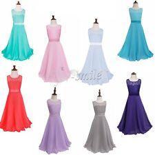 Mädchen Kinder Abendkleid Brautjungfer Prinzessin Hochzeit Festkleid Maxi Kleid