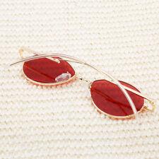 Unisex Vintage Oval Aolly Frame Sunglasses Women Men Summer N7