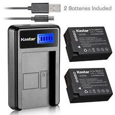 Kastar Battery and LCD Slim USB Charger for Panasonic DMW-BLC12 Lumix DMC-GH2 G6