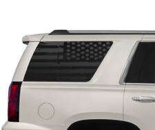 Distressed USA Flag Decals fits Rear window 2015 2018 Chevy Tahoe GMC Yukon CT10