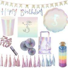 SIRENA luccicante Party Festa di compleanno bambino Set decorativo iridescente