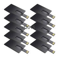 Bulk Lot 10PCS Black 1/2/4/8/16GB Credit Card USB Flash Drive DIY Memory Stroage
