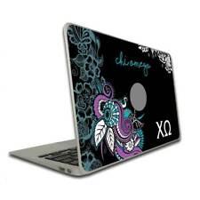Chi Omega Vinyl Laptop Skin - Teal Paisley FREE SHIPPING