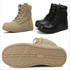 AU Boys Tactical Combat Boots Children Kids Casual Ankle High Top Soft Shoes