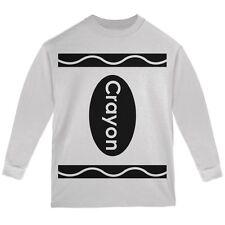 Halloween Crayon Costume White Youth Long Sleeve T-Shirt
