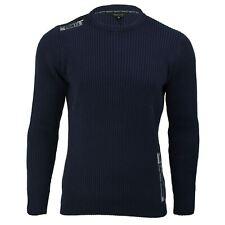Maglione da uomo cotone a costine Knit Xact abbigliamento girocollo a maniche lunghe