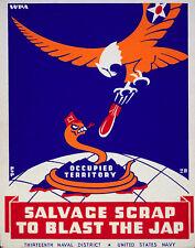 Vintage POSTER.Stylish Graphics. US Navy. Snake & Eagle.House Room Decor.1003