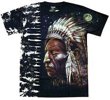 Nieten T-Shirt Indianer, Gr. XXL, 2XL, Native Spirit Wölfe,Wolf Biker Häuptling