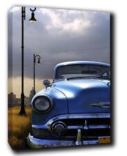 Classic Car Landscape, ABSTRACT CANVAS Wall Art Print Picturen