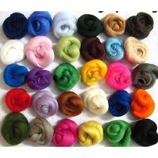 18-36Colors Merino Wool Fiber Lot For Needle Felting 5g Per random Color M029 QL