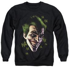 Batman Arkham Origins Sweatshirt Joker Grin Ha Ha Black Pullover