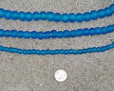 Beautiful Fair Trade Unenhanced Artisan Recycled Glass Beads Sea Sapphire Glow