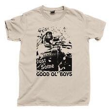 GOOD OL BOYS T Shirt Waylon Jennings Moonshine Whiskey Shot DUKES of HAZZARD Tee