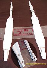 6 cm accordéon ceintures, accordion straps, bretelles, blanc 6cm, color