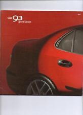 SAAB 93 SPORT SALOON 1.8t(150BHP),2.0t(175BHP),2.0t(210bhp) 2.2TiD BROCHURE 2004