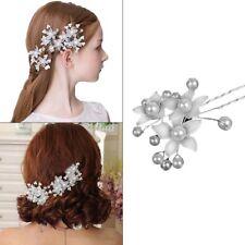 épingles Cheveux Fleurs Perle Strass Coiffure Chignon.Accessoire Mariage Soirée