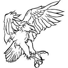 'Eagle Landing' Rubber Stamp (RS008304)