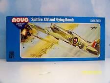 "NOVO AIRCRAFT 1:72 SCALE U/A ""SPITFIRE XIV&FLYING BOMB"" WW II UNASSEMBLED KIT"