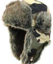 d3c351d37c0f2 Camouflage Ushanka - Trappeur Hiver Chapeau Ski Militaire Armée Pilote  Nouveau