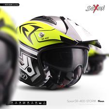 SOXON SR-400 STORM NEON / CASQUE-JET DE MOTO SCOOTER VESPA CYCLOMOTEUR ECE XS-XL