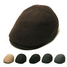 Unisex Mens Wool Flat Cap Stretch Fit Newsboy Cabbie Gatsby Driver Winter Hats
