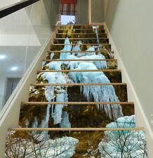 3D Snow, winter 898 Stair Risers Decoration Photo Mural Vinyl Decal Wallpaper US