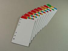 Filofax Personal/Compact Divider Insert (Top Position) Multicoloured Mylar Tabs