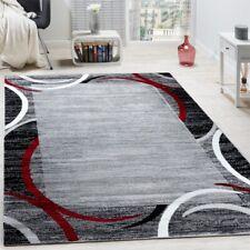 Tapis de Salon Moderne Avec Bordure Tapis De Marque Moucheté Gris Noir Rouge