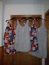Sleeveless Linen  Dresses GAP L,M,S, Gray striped & Multi Floral  NWT