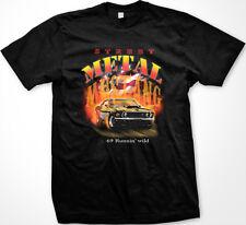 Street Metal Mustang '69 Runnin' Wild American Flag Muscle Car USA Men's T-Shirt