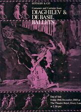 SOTHEBY'S DANCE THEATRE COSTUME DESIGN Russian Diaghilev De Basil Ballet Roerich