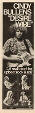"1979 CINDY BULLENS ""DESIRE WIRE"" ALBUM PROMO AD"