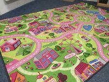 Spiel Kinder Teppich Straßenteppich Girls Mädchen Sweet Black Line