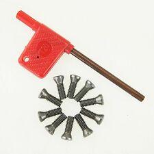 111382 10 pièces Insert Torx Vis Carbure CNC Tour Outil Avec clé 2 pour 5mm