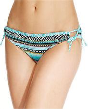 NWT Kenneth Cole AQUA Multi Geo Tie Sides Hipster Swimwear Bikini Bottom S M L