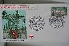ENVELOPPE PREMIER JOUR 1966 REUNION LORRAINE ET FRANCE