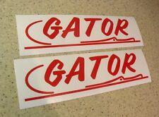 Gator Vintage Boat Trailer Decal Die Cut 2-PAK FREE SHIP + FREE Fish Decal!