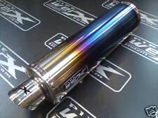 Kawasaki ER6 N, F 2005- Colour Titanium Round Exhaust Can, Silencer. Road Legal
