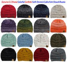 73b65a7f1f0 NEW! Genuine CC Beanie Colorful Confetti Soft Stretch Cable Knit Slouch  Beanie