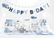 Kindergeburstag Partyset Deko Flugzeug Geburtstag Jungen Teller Becher Girlande