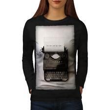Vintage Typewriter Retro Women Long Sleeve T-shirt NEW | Wellcoda