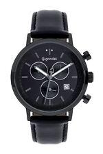 Gigandet CLASSICO Uhr Chronograph Datum Lederarmband Schwarz G6-007