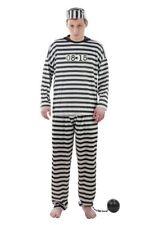 Kostüm Gefangener Sträflingskostüm Sträfling Knasti Gefängnis Verbrecher M - XXL