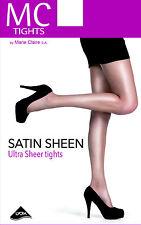 MC par Marie Claire Satin Sheen Collants 15 deniers Collants Doux Shine Tailles à XL