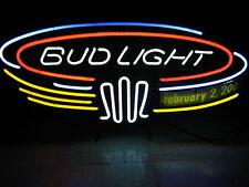 Bud Light Blimp Neon sign Beer Bar Keg Light Tap Game room Man Cave budweiser
